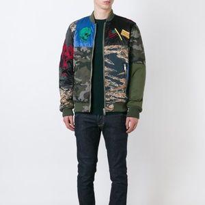 DIESEL Patchwork Camouflage Bomber Jacket